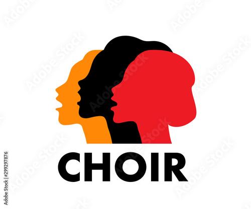 Fotografía Choir logo vector illustration
