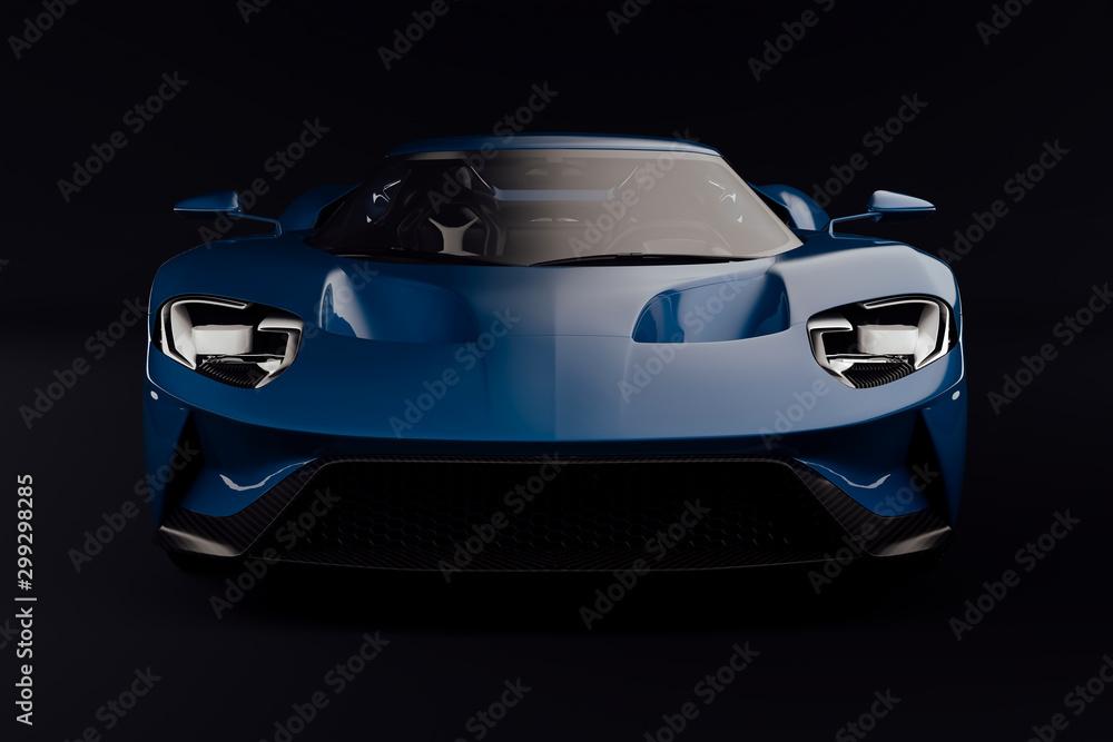 Fototapety, obrazy: 3d render of beautiful exotic super car