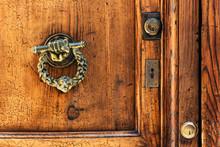 Detail Of Old Wooden Door In R...