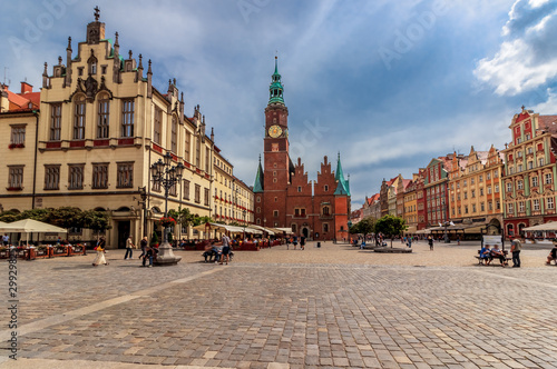 Photo sur Toile Europe de l Est Market square of Wroclaw - Poland