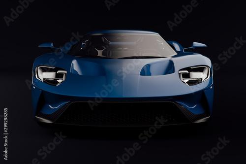 Fototapeta 3d render of beautiful exotic super car obraz na płótnie