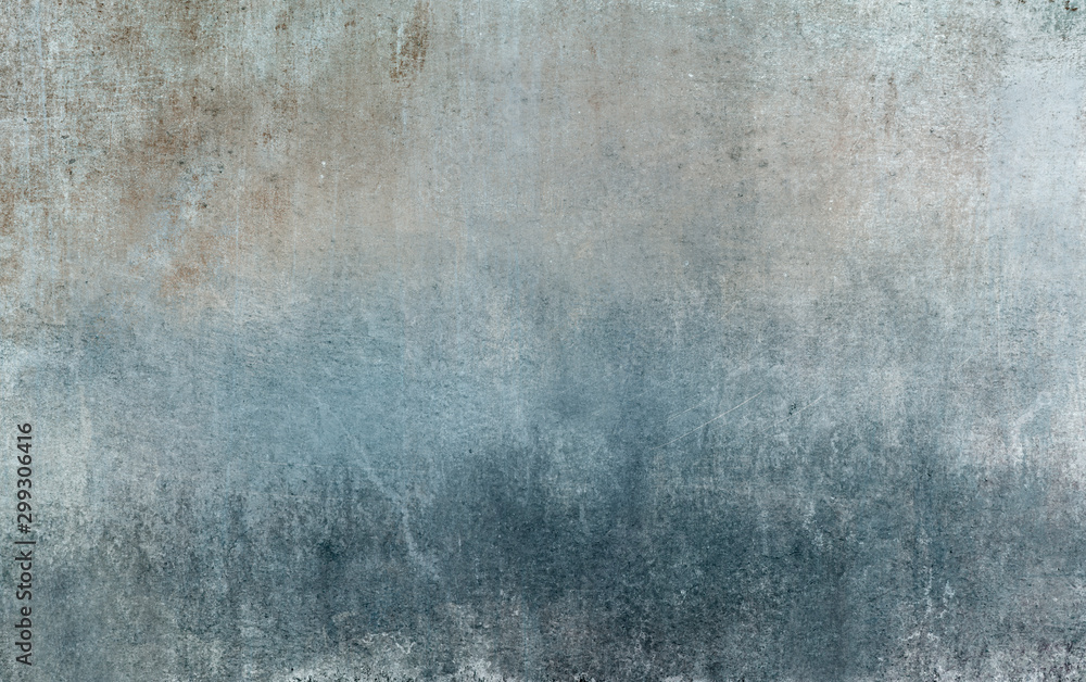 Fototapeta Old distressed blue grungy wall background