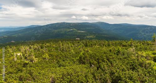 Obraz na plátně  Krkonose mountains scenery from Divci kameny on czech-polish borders
