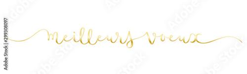 Obraz Calligraphie vecteur dorée MEILLEURS VOEUX - fototapety do salonu