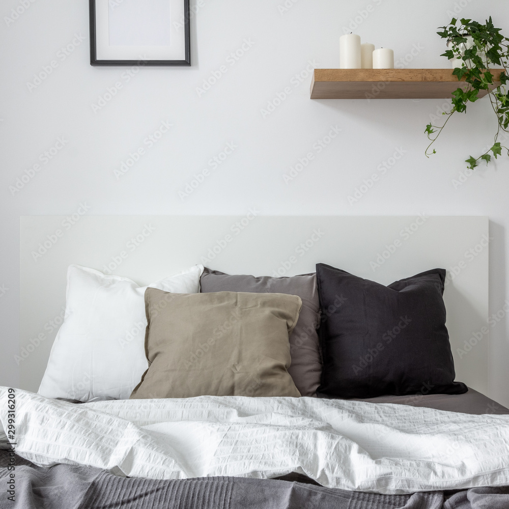Fototapety, obrazy: Bedroom with natural style decoration