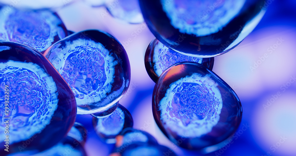 Fototapety, obrazy: Creative image of embryonic stem cells, cellular therapy. 3d illustration