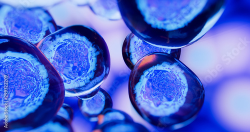 Creative image of embryonic stem cells, cellular therapy. 3d illustration