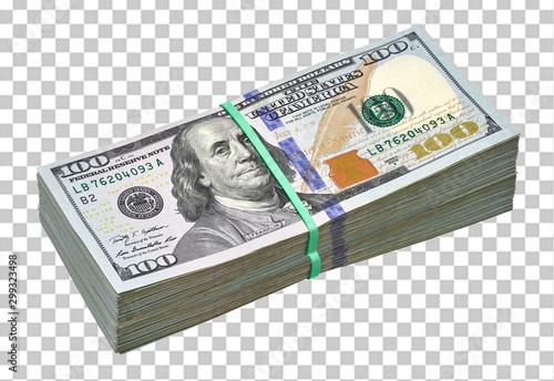 Fényképezés  New design dollar bundles on checkered background including clipping path