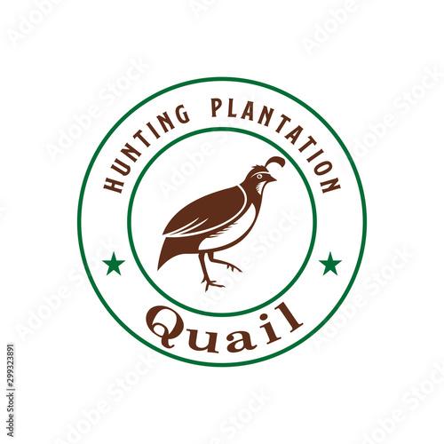 Fotomural Quail Hunting Plantation Logo