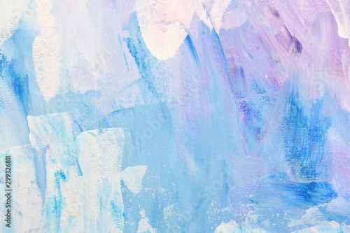 Photo Abstract art background hand drawn acrylic painting