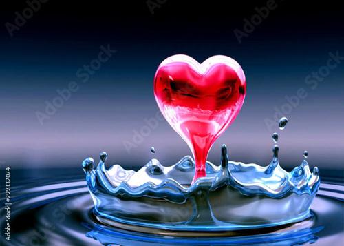 Obraz heart in water - fototapety do salonu