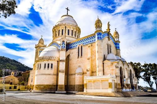 Famous Catholic Church [Notre Dame d'Afrique] - Algiers, Algeria Canvas Print