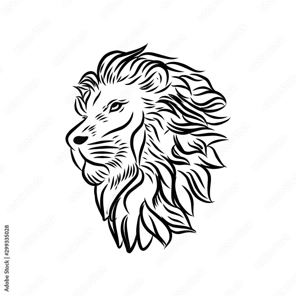 Wild Lion Vector Icon Logo Template