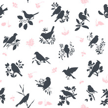 Songbirds Seamless Pattern Des...