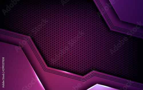 Fotomural  Purple abstract dimension on dark texture background