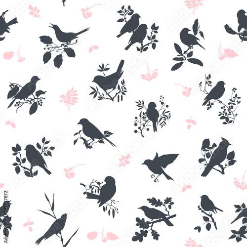 obraz lub plakat Songbirds seamless pattern design