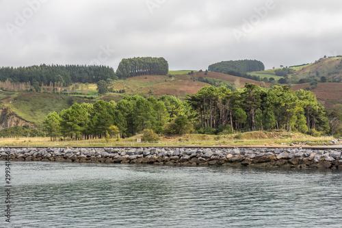 Port of Zumaya, near the Flysch Cliff, Cantabria, on the western coast of Guipúzcoa. Spain
