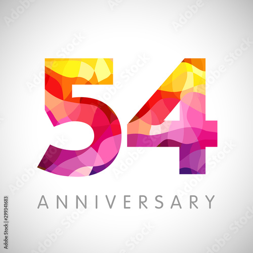 54 th anniversary numbers Canvas Print