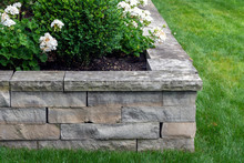 A Natural Stone Retaining Wall...