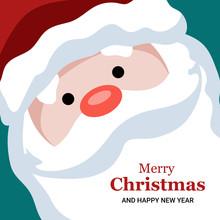 Santa Claus Vector Merry Christmas Card Design