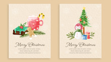 Set Of Christmas Cards Waterco...