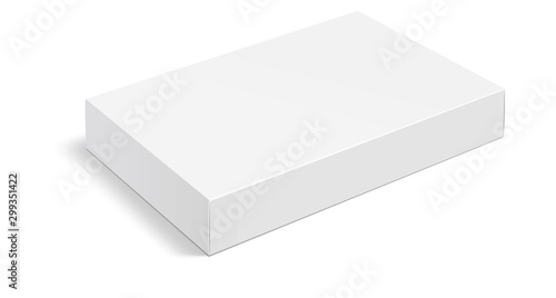 Obraz White box . Mock up white cardboard package box. White realistic box mockup for packaging. Blank white product packaging boxes isolated on white background. Vector illustration - fototapety do salonu