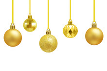 Christmas Golden Balls Hanging...