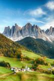 Fototapeta Landscape - Beautiful landscape of Italian dolomites - Santa maddalena