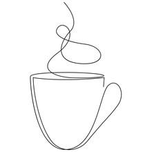 Teacup Continuous Line. One Li...