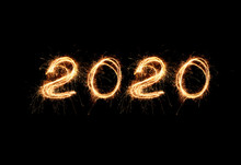 New Year 2020 Light. Sparklers...