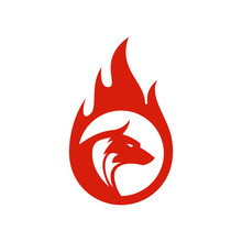 Fire Wolf Vector Logo Icon