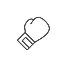 Boxing Glove Line Outline Icon
