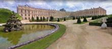 Impressionnisme. Château De Versailles Et Bassin De La Pyramide