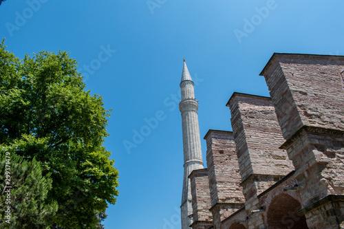 Fotografie, Tablou  Istanbul, Turkey: one of the minarets of Hagia Sophia, famous former Greek Ortho