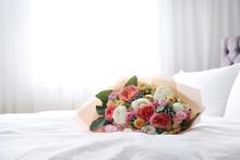 Beautiful Flower Bouquet On Be...