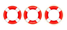 Realistic Style, Set Lifebuoy ...