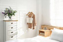 Stylish Bedroom With Modern Chest Of Drawers
