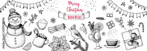 Fotografie, Tablou Christmas greeting card
