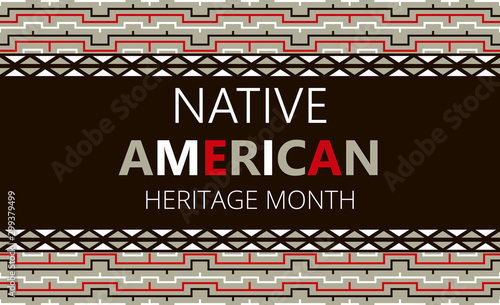 Native American Heritage Month is organized in November in USA Wallpaper Mural