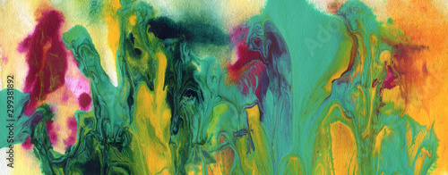 Abstract acrylic and watercolor smear painting Fototapet