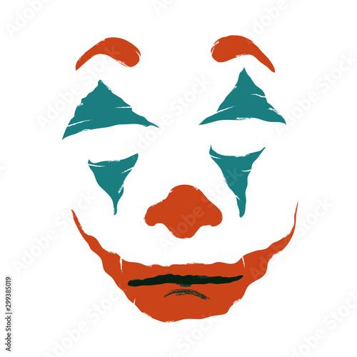 Makeup clown, joker Canvas Print