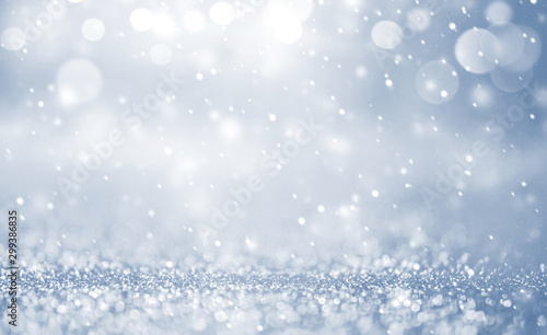 Foto Christmas background with Falling snow, snowflake