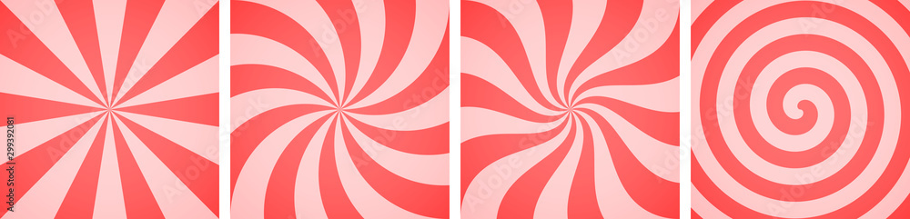 Fototapety, obrazy: Set of sweet candy abstract vector backgrounds