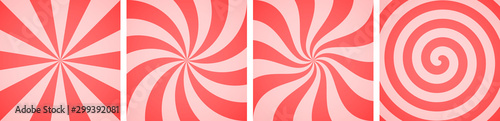 Fotografia  Set of sweet candy abstract vector backgrounds