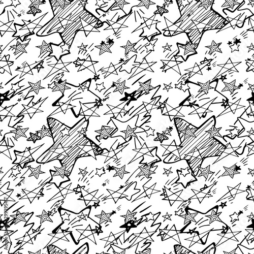 hand-drawn-creative-vector-star-icons-seamless-pattern-isolated