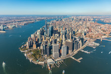 Aerial View To New York City S...