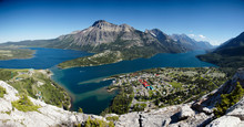 View Of Waterton From The Bear...