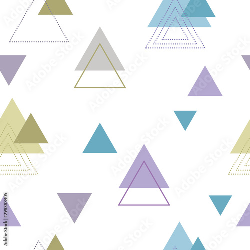 Absctract nordic triangle geometric patten design for decoration interior, print posters, card, wrapping in modern scandinavian style in vector Poster Mural XXL