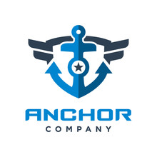 Ship Anchor Shield Logo Design