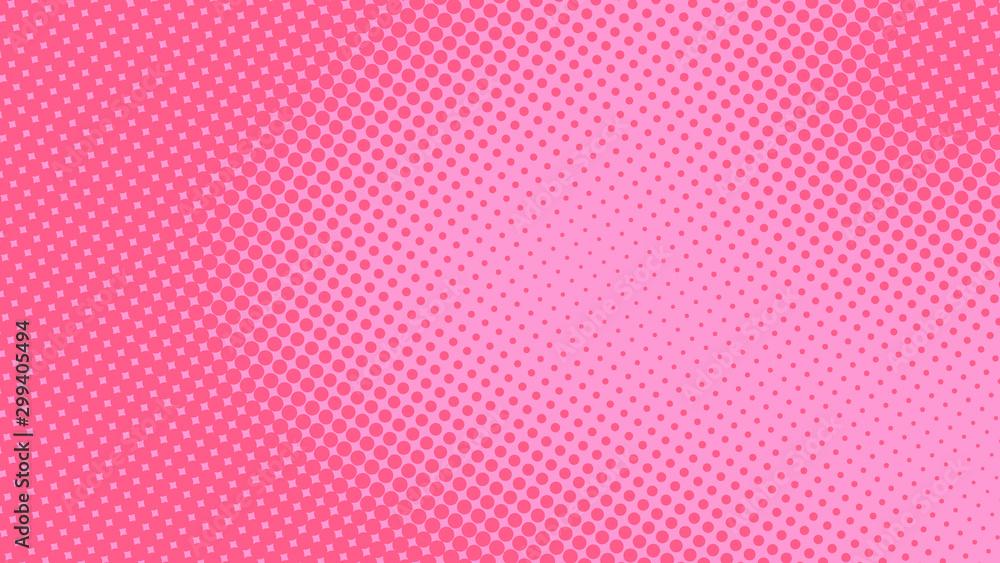 Dziecko wystrzału sztuki różowy tło w retro komiczka stylu z halftone kropek projektem, wektorowa ilustracja eps10 <span>plik: #299405494 | autor: stock_santa</span>